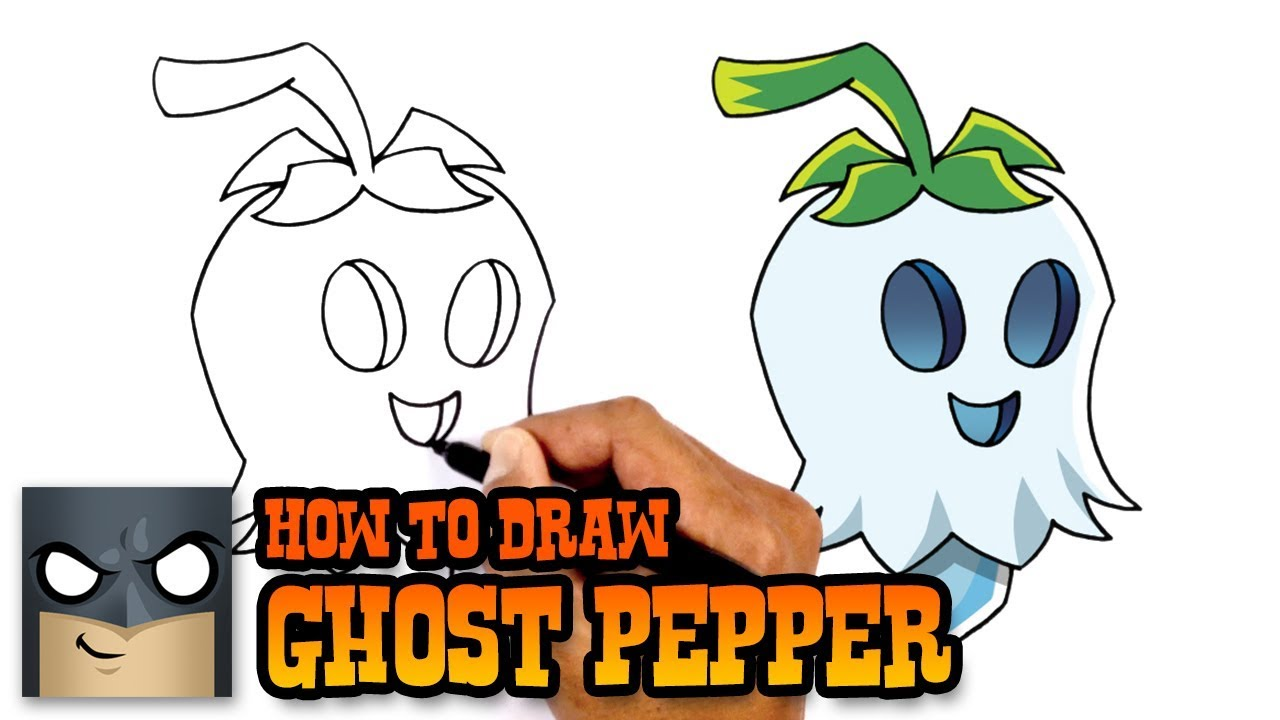 1280x720 How To Draw Plants Vs Zombies Ghost Pepper