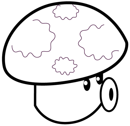 450x436 How To Draw Puff Shroom From Plants Vs Zombies With Illustrated