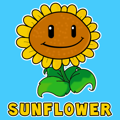 400x400 How To Draw Sunflower From Plants Vs Zombies With Easy Step