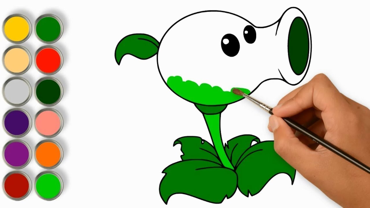 1280x720 How To Draw Color Plants Vs Zombies Coloring Book And Drawing