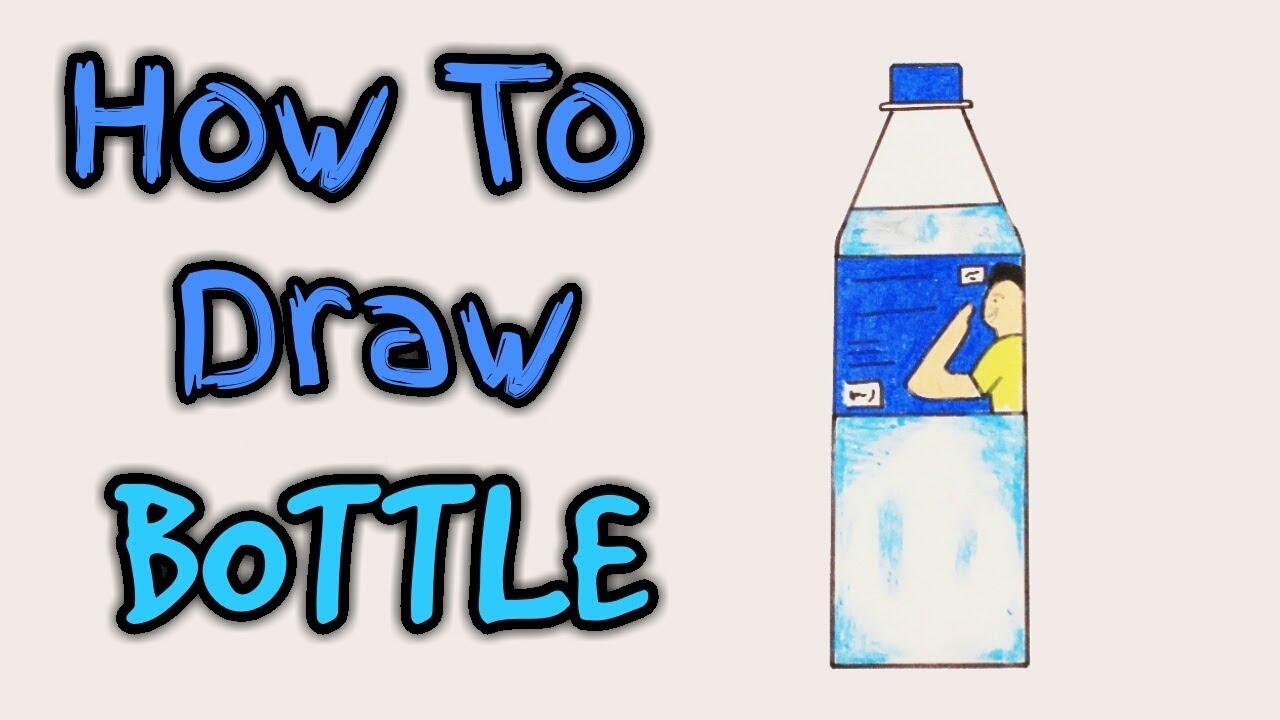 1280x720 how to draw bottle bottle bottle drawing plastic bottle