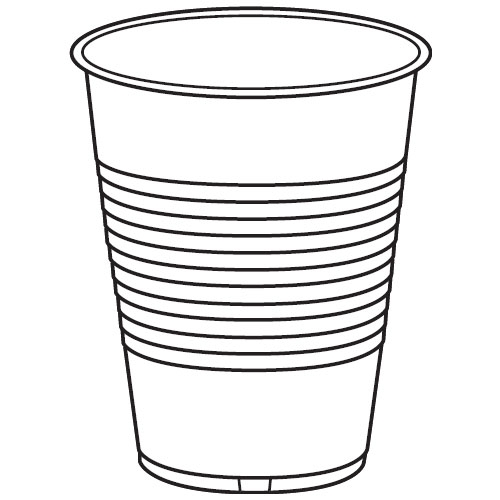 500x500 Plastic Cup Drawing