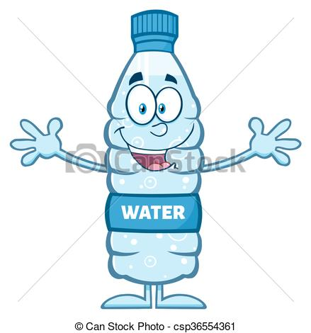 439x470 Water Plastic Bottle Wanting A Hug Smiling Water Plastic Clip