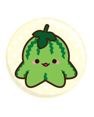 384x480 Watermelon Octofruit Button Things I Want Kawaii Art, Octopus