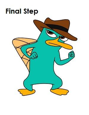 300x388 Draw Perry The Platypus Final Step Things To Draw