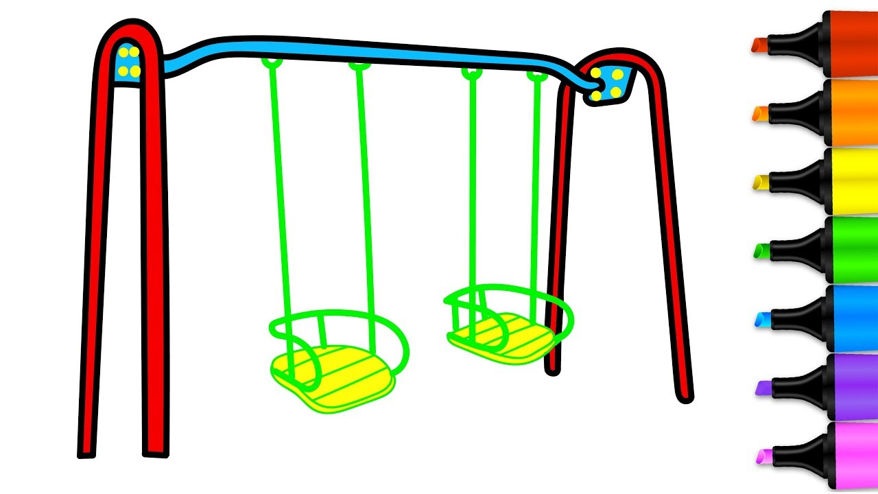 1280x720 How To Draw A Swing Swings For Kids Drawing Pages For Playground
