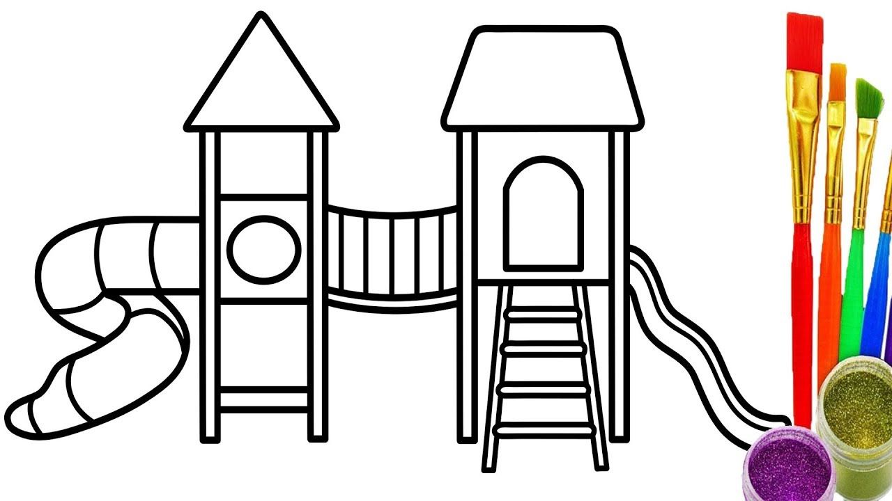 1280x720 Playground Drawing For Kids And Playground Drawing For Kids