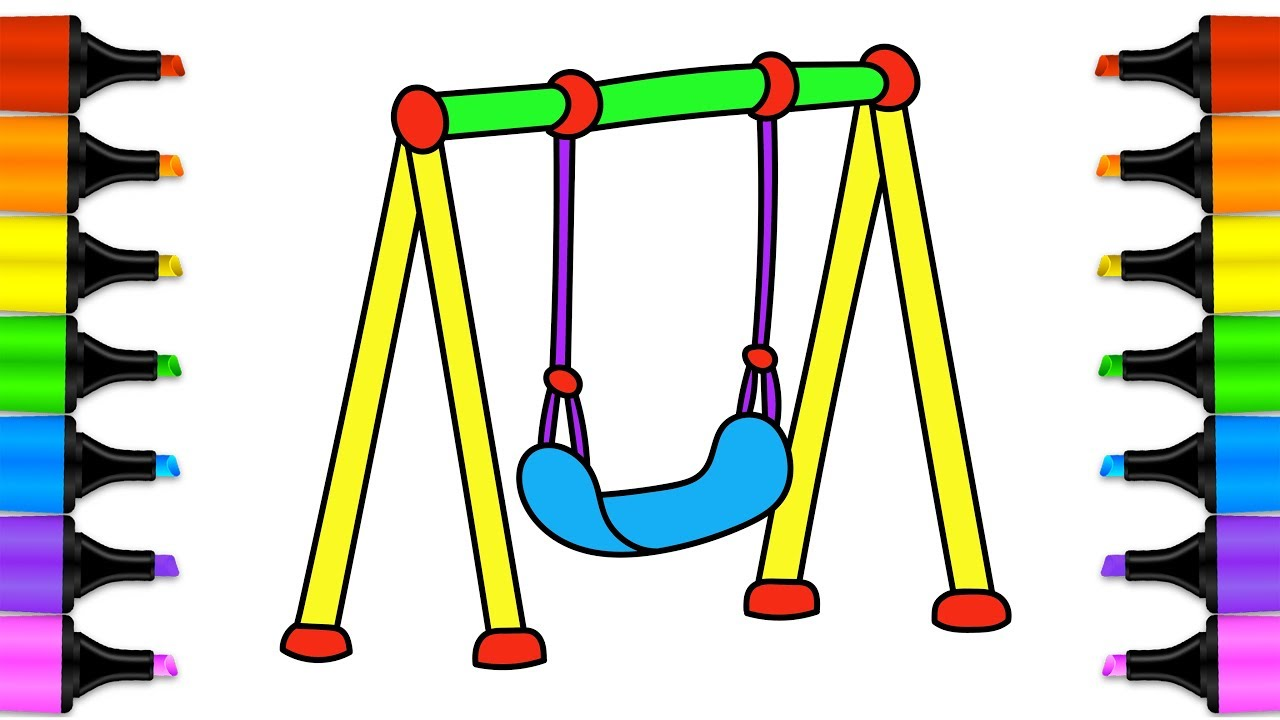 1280x720 Swings For Kids How To Draw And Color A Swing Drawing Pages