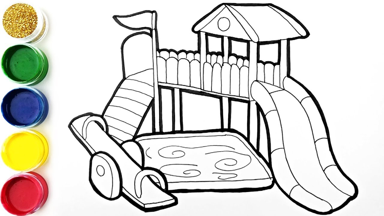 1280x720 Glitter Playground Coloring And Drawing Learn Colors For Kids