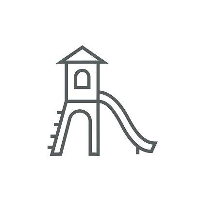 416x416 Playground With Slide Line Icon Premium Clipart