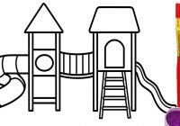 200x140 Printable Coloring Pages For Kids Playground With Swing How