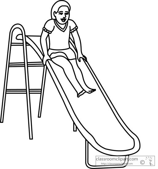 514x550 Slide Clipart Black And White