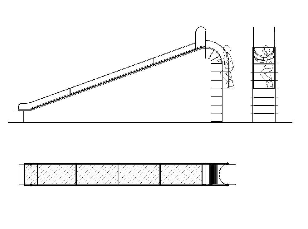 987x736 Cad Block Of A Playground Slide