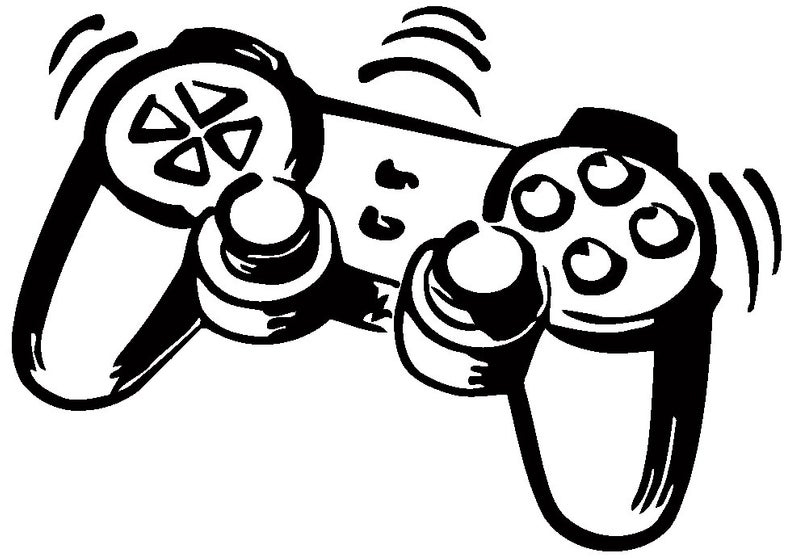 794x559 ps controller gamepad bedroom wall art sticker picture decal etsy