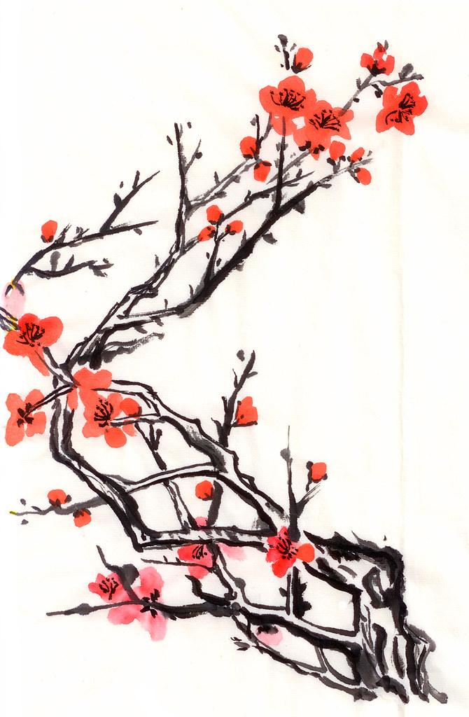670x1024 chinese painting plum flower chinese painting plum flower