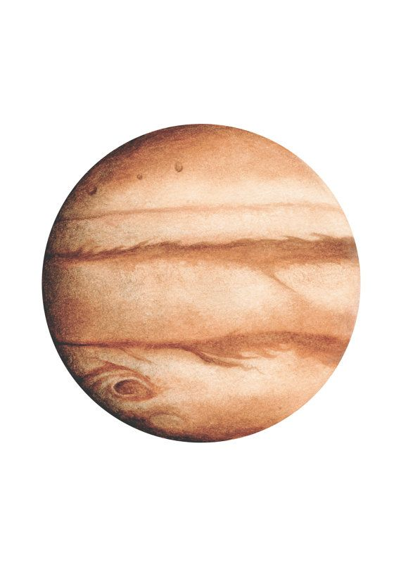 570x806 jupiter watercolour, planet art, planet watercolor, planet print