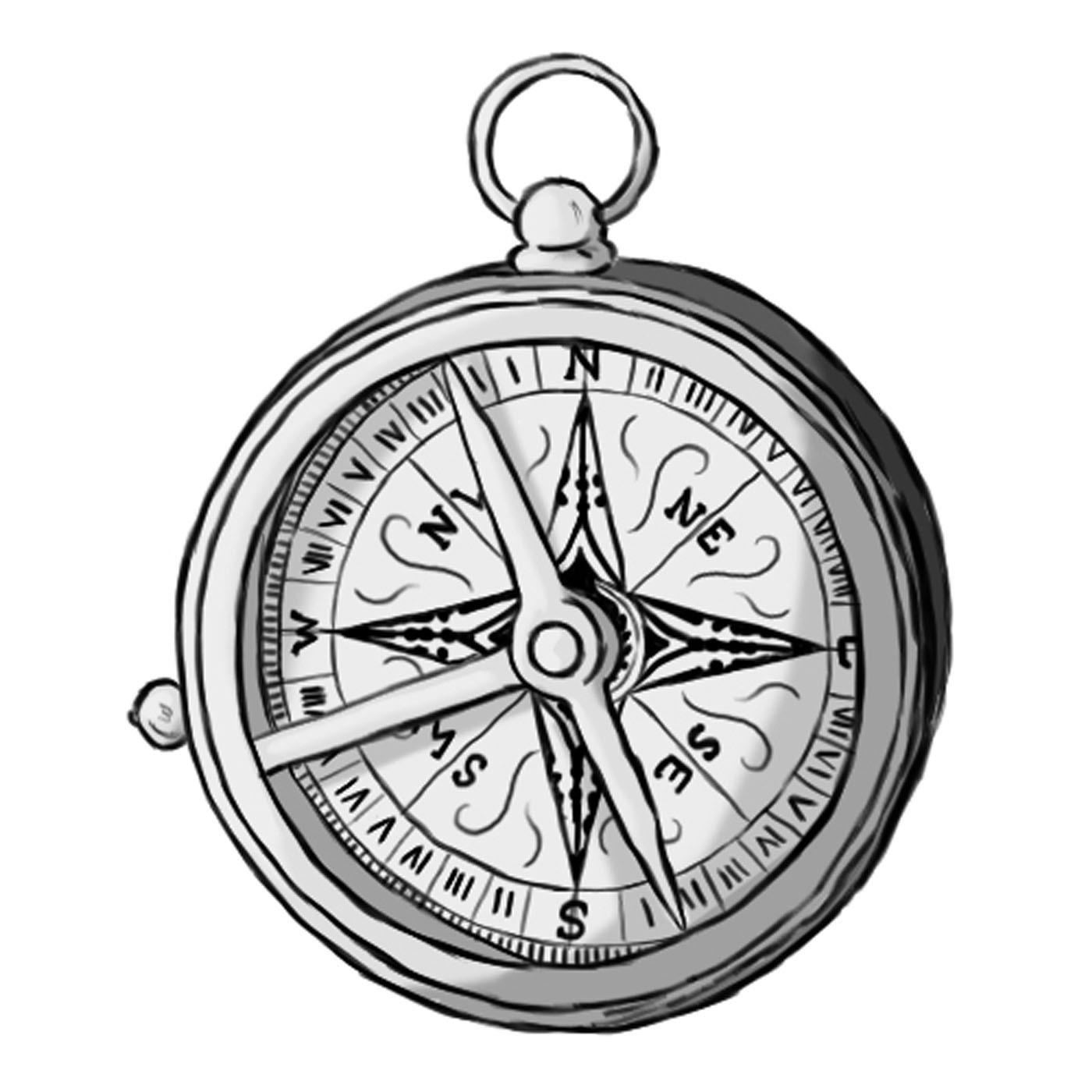 Pocket Compass Drawing
