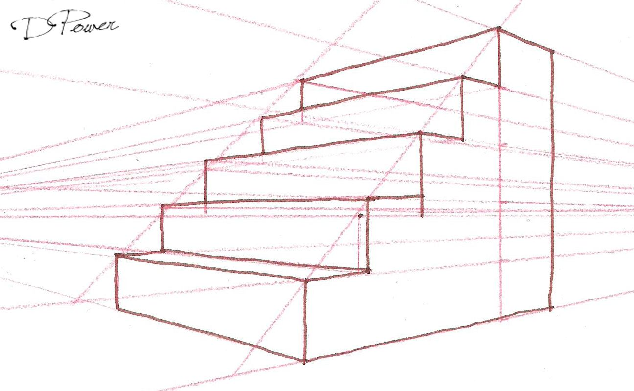 1296x799 Drawing Stairs In Point Perspective College
