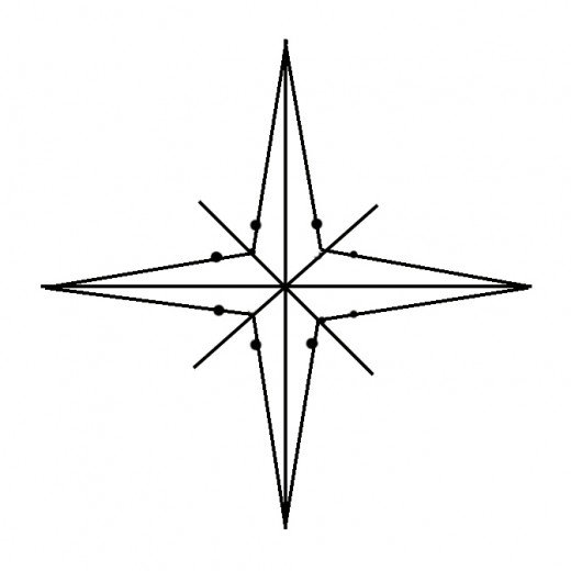 520x520 How To Draw A Compass Rose Feltmagnet