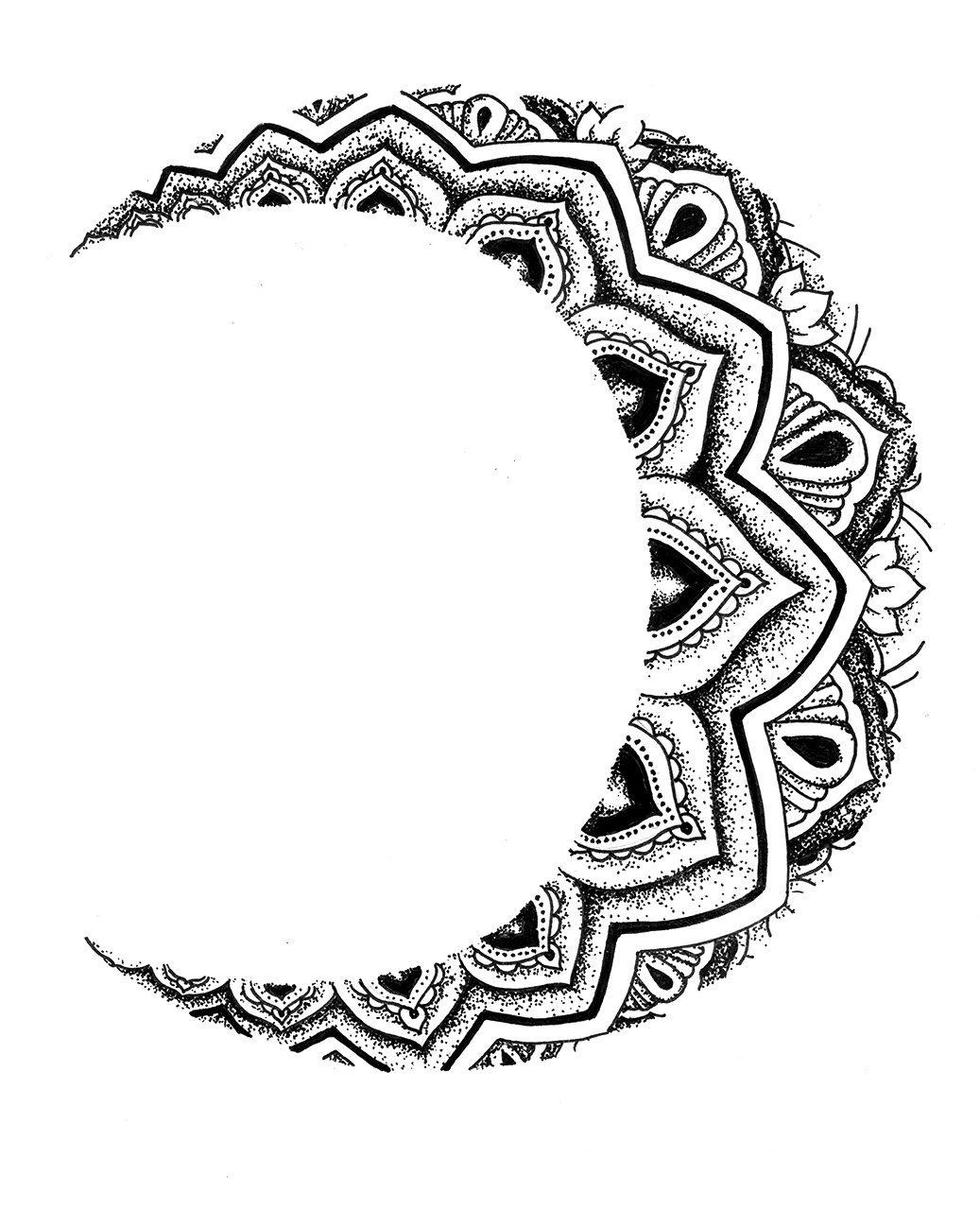 Drawing Easy Pointillism Art Black And White