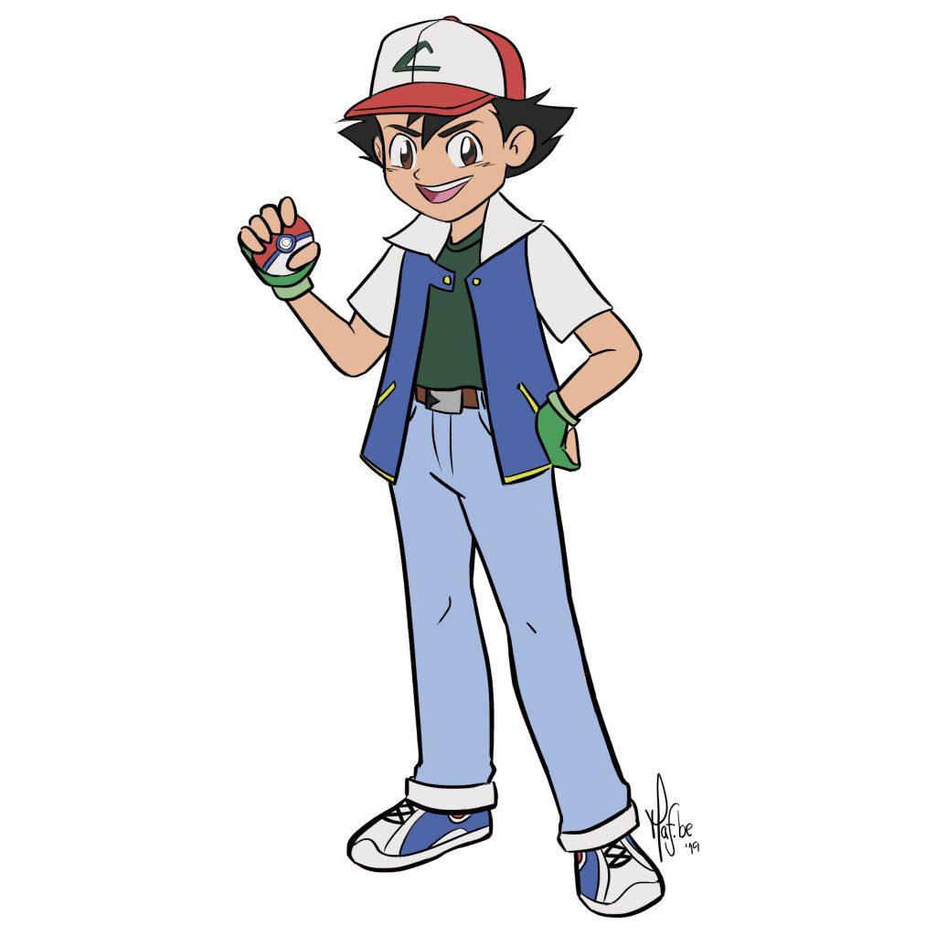 Pokemon Ash Drawing