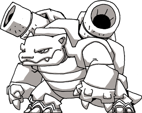 Pokemon Blastoise Drawing