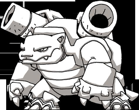 Pokemon Blastoise Drawing