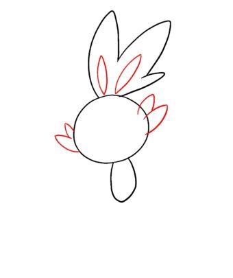 340x405 How To Draw Scorbunny Pokemon