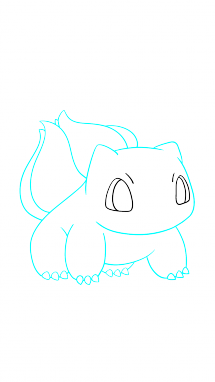 215x382 How To Draw Bulbasaur, Pokemon, Anime, Easy Step