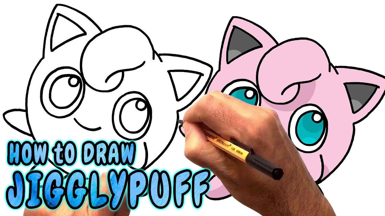 1280x720 How To Draw Jigglypuff From Pokemon Go