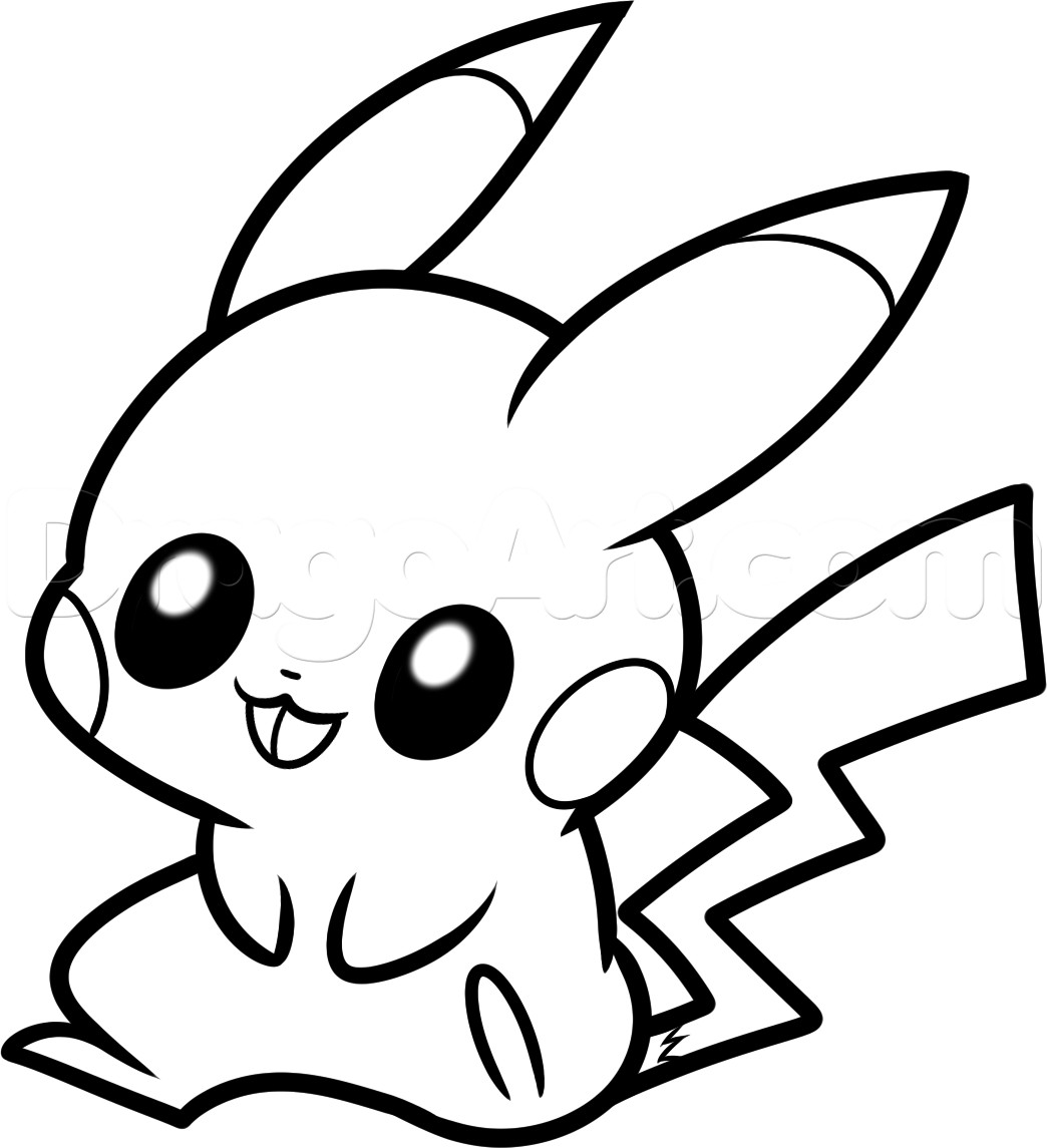 1044x1145 Baby Pikachu Drawing Coloring Pages Pika Pokemon Cute