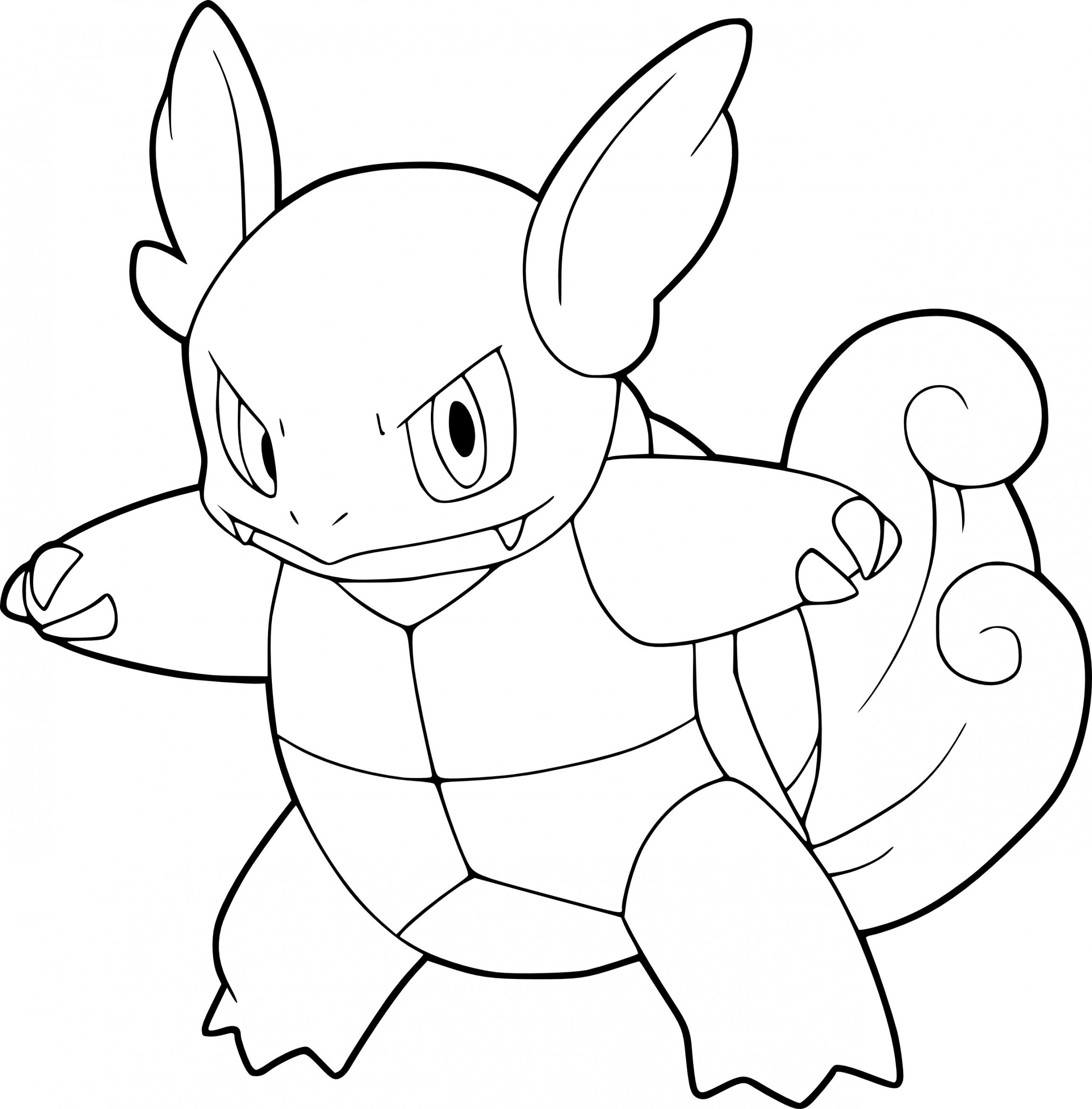 2342x2378 Pokemon Wartortle Coloring Pages Collections Of Pokemon Wartortle