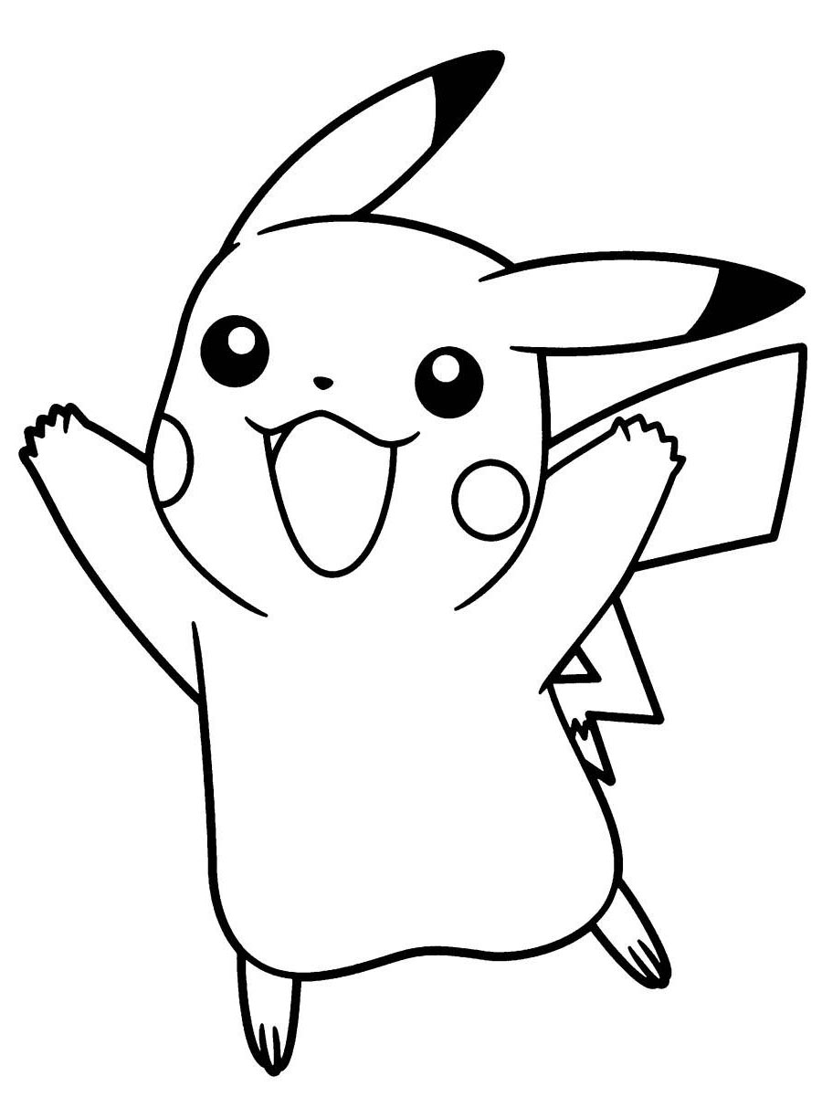 900x1213 Simple Pikachu Coloring Pages Pokemon Cute Acpra Drawings