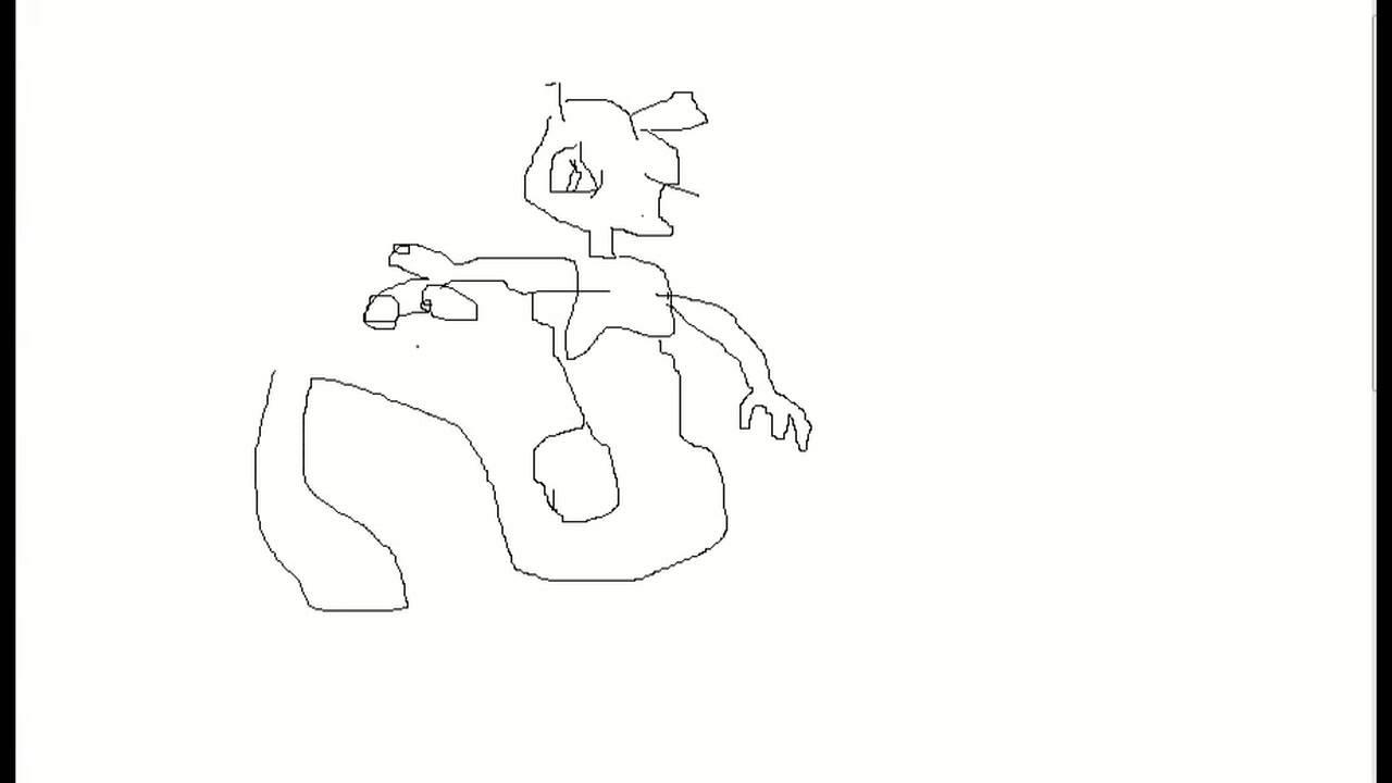 Pokemon Mewtwo Drawing