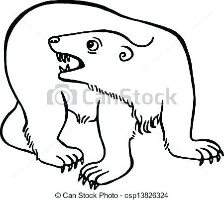450x402 simple bear drawings polar bear drawings simple polar bear