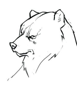 300x400 simple bear drawings polar bear drawings simple polar bear