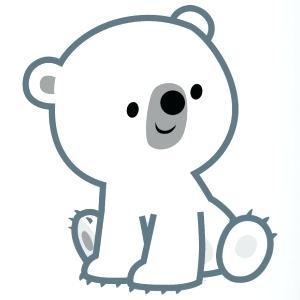 300x300 polar bear cub clipart cub polar bear x cute polar bear cub
