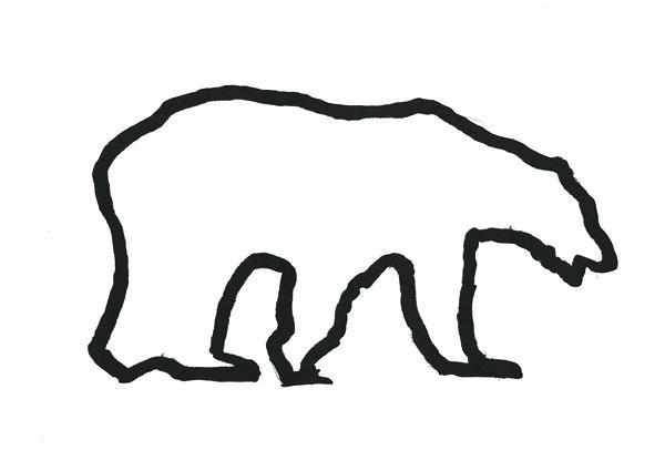 600x425 polar bear outline easy bear drawing outline drawing teddy bear