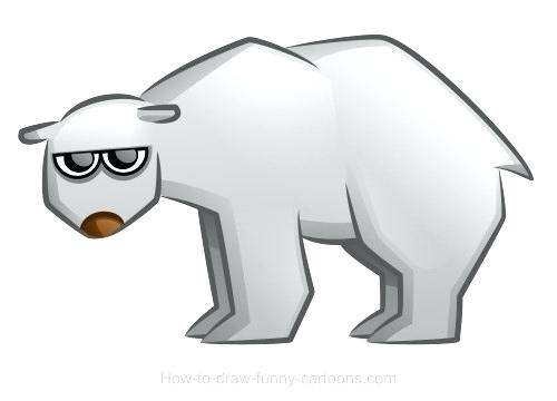 500x360 polar bear drawings polar bear drawings polar bear cartoon easy