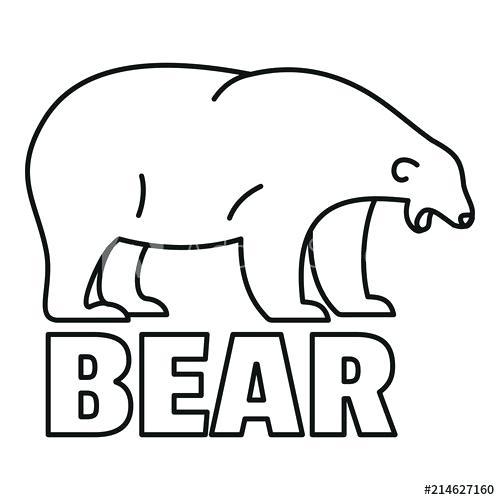 500x500 polar bear outline step polar bear outline polar bear outline