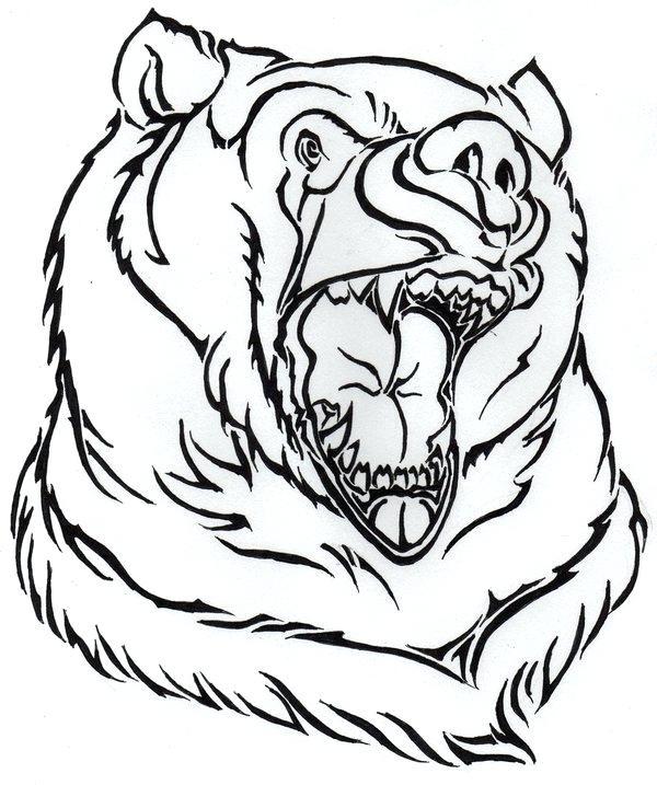 600x717 outline of a bear outline bear design speech bubble polar bear