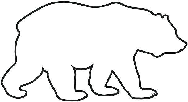 609x330 bear outline polar bear outline polar bear outline drawing polar