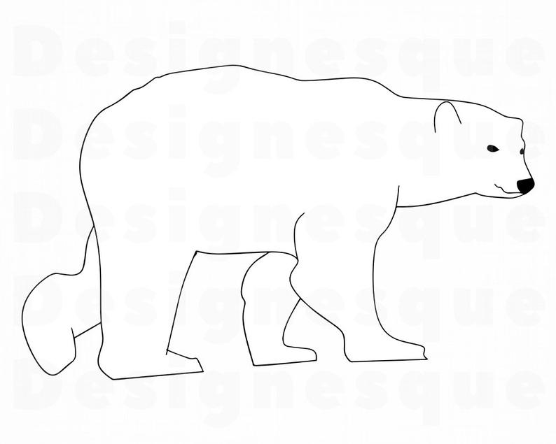 794x635 polar bear outline polar bear bear polar bear etsy