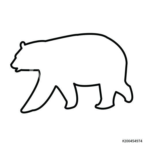 500x500 bear outline viewing product bear outline polar bear outline