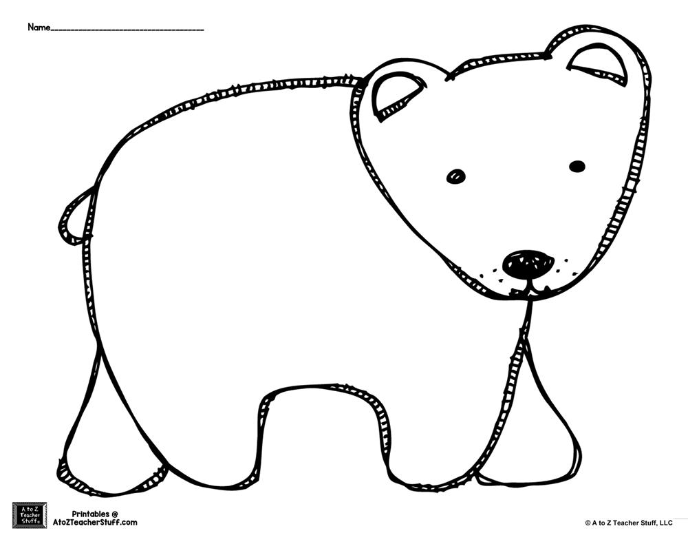 1000x774 bear outline brown bear or polar bear outline coloring