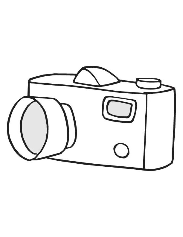 612x792 free polaroid camera clipart worksheet coloring page
