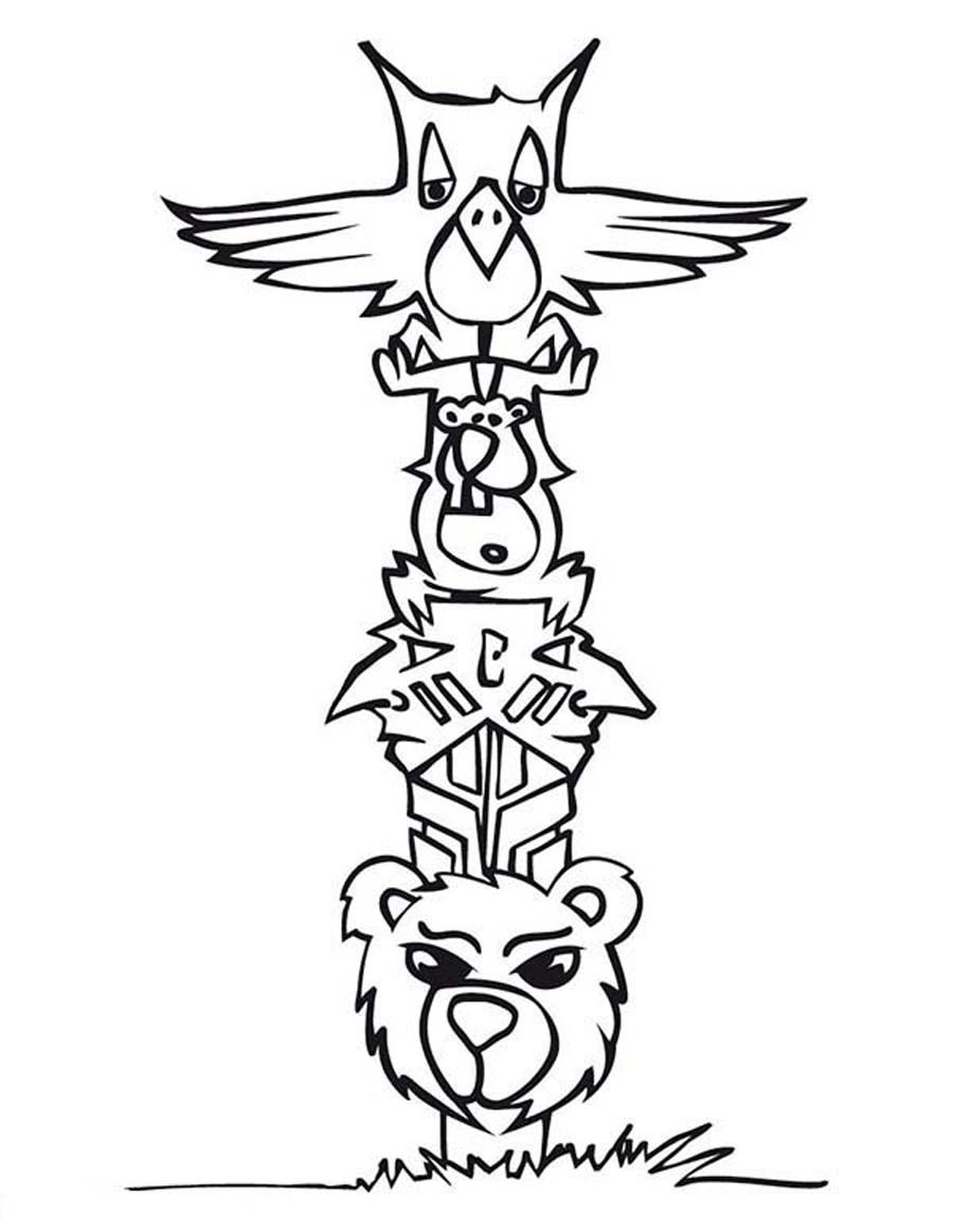 900x1164 Free Coloring Pages Of Totem Pole Ber Painting Drawing Ideas