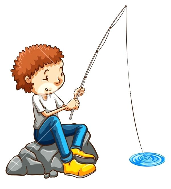 600x662 Fishing Pole Drawing