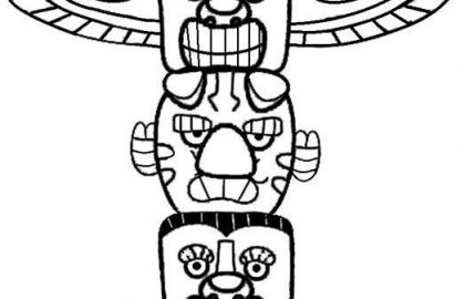 420x270 Totem Pole Coloring Pages And Totem Pole Coloring Pages Best