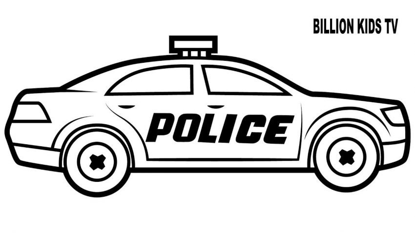 This is a photo of Soft printable coloring pages of police cars